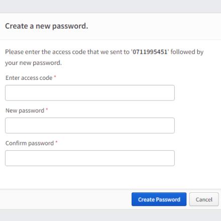 text reset password